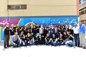 بالصور: شركة MTN سوريا تختتم مشروع إعادة تأهيل مدرسة عثمان بن عفان بدمشق