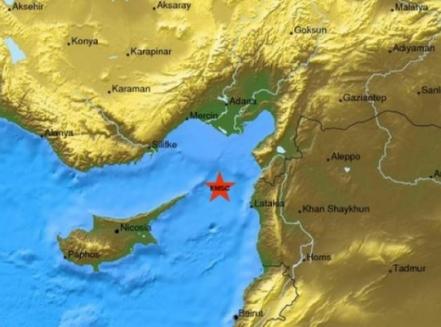 هزة أرضية بقوة 5.0 درجة تضرب سواحل سوريا الليلة