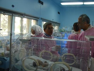 افتتاح عشر حواضن أطفال ومنفستين حديثتين في مشفى الزهراوي