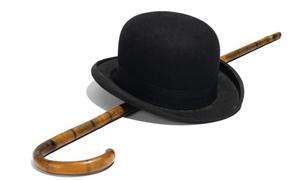 بيع قبعة شابلن وعصاه في مزاد علني