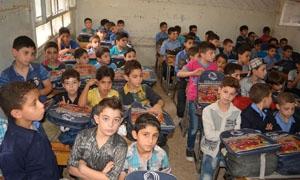 حملة ألف حقيبة مدرسية من بنك سورية الدولي الإسلامي
