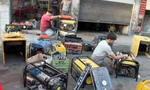 1200 مولدة كهربائية ..2.4 مليار ليرة تكلفة الأمبيرات على المشتركين شهرياً في حلب