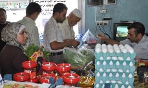 استهلاكية السويداء تطرح 63 طنا من المواد الغذائية لبيعها بأسعار مخفضة