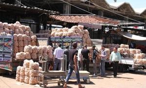 مديرية التجارة الداخلية بدمشق تنظم 11 ضبطا  عدليا في سوق الهال وتتوعد بعقوبات رادعة