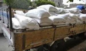 التجارة الداخلية بريف دمشق تضبط 118 طناً من الدقيق التمويني  المعد الاتجار به بالسوداء