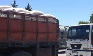 وصول أكثر من 100 شاحنة محملة بمختلف المواد الأساسية خلال 24 ساعة إلى حلب