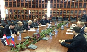 مباحثات سورية روسية حول مسائل تطوير وزيادة التعاون في المجال الاقتصادي