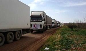 وصول شاحنة محملة بـ 65 طنا من الكابلات والمحولات الكهربائية إلى حلب