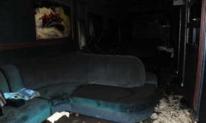 حريق في ناد ليلي في شارع 29 أيار نتيجة ماس كهربائي