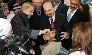 الصحة :أكثر من مليوني طفل استفادو من حملة التلقيح الوطنية ضد شلل الأطفال في سورية