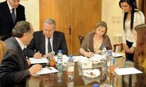 الموارد المائية توقع عقداً مع منظمة دولية بقيمة 3 ملايين دولار لتطوير قطاع مياه الشرب والصرف الصحي في سورية