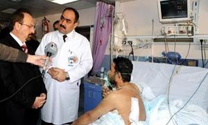 أكثر من 1500 عملية قلب مفتوح ..وزير الصحة: زيادة الخدمات المجانية في مركز الباسل الجراحة القلب