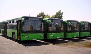 مسؤول: تأهيل 70 باصاً للنقل الداخلي في دمشق