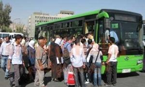 محافظة دمشق تضبط 100 باص نقل داخلي مخالف للتعرفة