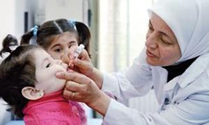 اليونيسيف: إطلاق حملتين للتلقيح ضد شلل الأطفال في سورية خلال النصف الثاني