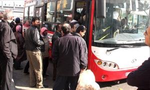انخفاض كبير في عدد وسائل النقل العامة في دمشق..و60 رحلة فقط للمحافظات