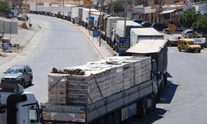 انخفاض مستوردات سورية من لبنان بنسبة 64% لتبلغ 153 مليون دولار خلال 8 أشهر