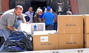 تموين ريف دمشق تصادر 253 صندوق زيت نباتي معدة للتوزيع للأسر المهجرة