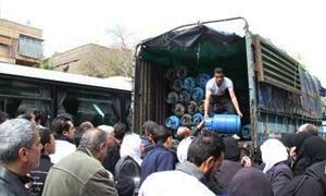 محافظة دمشق: أسطوانة الغاز بـ1100 ليرة لـ10كغ و1050 ليرة في الاستهلاكية والخزن