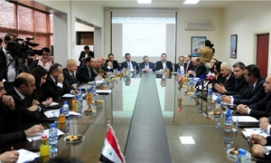 انطلاق أعمال الجلسة التأسيسية لمجلس رجال الأعمال السوري البيلاروسي