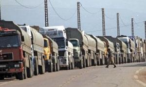 صناعة دمشق وريفها: ترصيص شاحنات عدرا الصناعية لسهولة تحركها