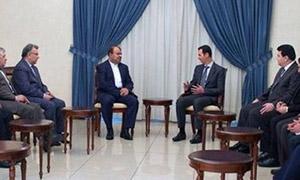 الرئيس الأسد: لأهمية تمازج الرؤية الاقتصادية بين سوريا وايران