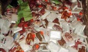 مصادرة 760 كغ من لحم الفروج الفاسد في القامشلي