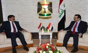 وزير التجارة العراقي يبحث مع سفير سورية لدى بغداد تطوير العلاقات التجارية
