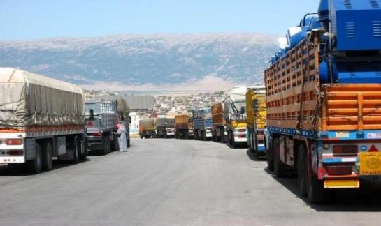 أكثر من 2000 شاحنة تعبر الحدود السورية منذ بداية العام..و13422 داخل سورية