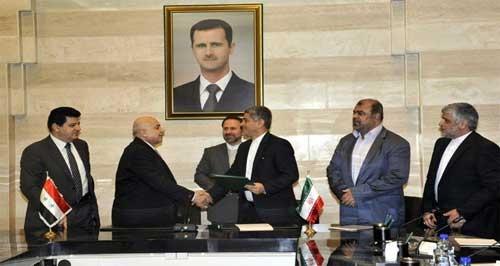 سورية وإيران توقعان اتفاق تعاون في مجالات الطاقة والصناعة والزراعة والاستثمارات