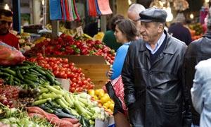 المركزي للإحصاء: التضخم في سورية يسجل 1.28% خلال تشرين الأول 2014.. واسعار الأغذية ينخفض لـ382.93