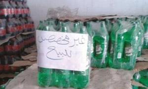 ضبط 5500 صندوق مياه غازية وعصير منتهي الصلاحية والقيمة تتجاوز الـ4 ملايين ليرة
