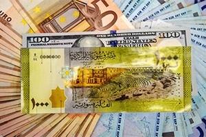 الليرة السورية تستقر أمام الدولار وتتراجع بشكل طفيف امام اليورو