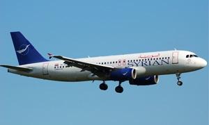مؤسسة الطيران السورية  تطلق رحلتها الجديدة بين