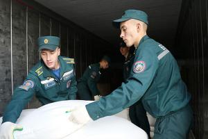 بيلاروسيا تُرسل شحنة مساعدات جديدة الى سورية عبر ميناء اللاذقية