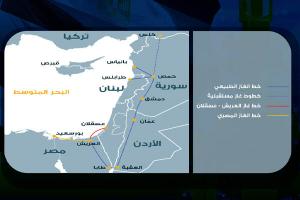 أنفوغرافيك .. تحديات نقل الغاز من مصر الى لبنان عبر الاردن و سوريا