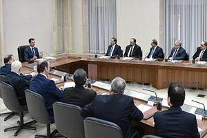 الأسد للحكومة الجديدة بعد أدائها القسم: الوضع المعيشي للمواطنين يجب أن يكون من أولويات الحكومة..و ضبط الأسعار