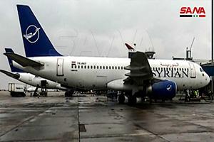 إنطلاق أول رحلة جوية من مطار دمشق إلى حلب بعد 8 سنوات من الانقطاع