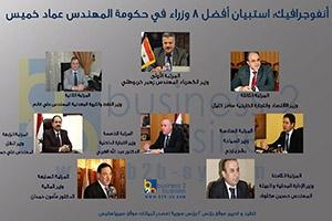 أنفوجرافيك: استبيان أفضل 8 وزراء  في حكومة المهدس عماد خميس خلال العام 2017