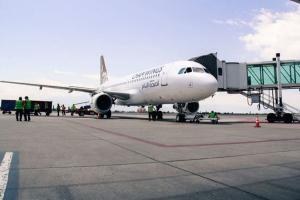 بعد توقف منذ العام ٢٠١١..وصول أول رحلة لأجنحة الشام للطيران من العاصمة الأرمينية يريفان إلى مطار حلب الدولي